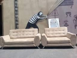 Jogo de sofá 3x2 lugares seminovo