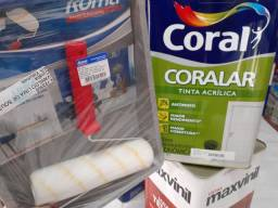 Combo ( 1 tinta 18L Coral + 1 kit pintura) na Cuiabá tintas  -
