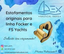 Estofamentos originais para linha Focker e FS Yachts