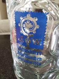 Caneca chopp vidro | 1L | Alemã | cervejaria Augustiner Munique