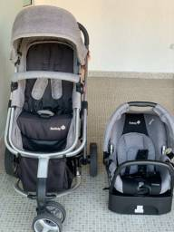 Carrinho com Bebê Conforto Mobi Travel System Cinza e Prata - Safety 1st