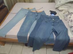 Kit 4 calças (44) por 90 reais masculinas