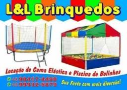 Locação de cama elástica, piscina de bolinha e área baby