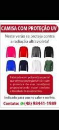 Camisa com proteção uv fator + 50