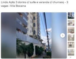 Lindo Apto 3 dorms c/ suite e varanda c/ churrasq - 3 vagas -Vila Bocaina
