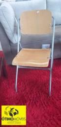 Cadeira de Ferro e Madeira dobrável lote com 40 cadeira R$:29,90 cada peça