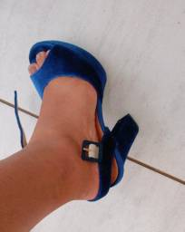 Salto veludo azul vizano 25$
