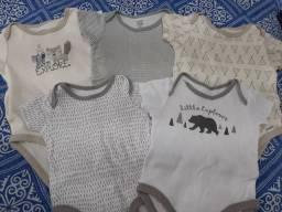 Lote Roupa Bebê Body Camiseta - Tamanho 0 a 3 meses - 7 peças