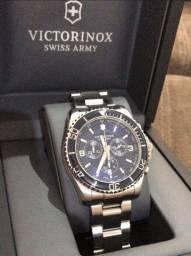 Relógio Victorinox Maverick Cronógrafo Azul - Suíço Quartz