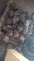 Motores de partida, alternadores e bombas d'água.