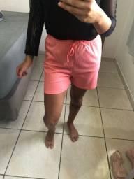 Shorts feminino canelado