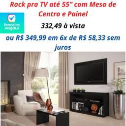 Rack pra TV até 55? com Mesa de Centro e Painel - Multimóveis Inovare