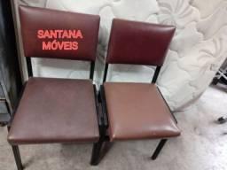 Duas cadeiras ferro almofadadas. $ 49,00 Cd
