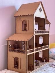Casinha de boneca madeira
