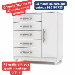 Cômoda 320 reais com cinco gavetas