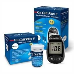 Medidor glicose + 150 tiras On Call Plus II
