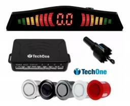 Sensor Estacionamento Ré 4 Sensores Display -5 Cores Tech One - Caruaru (PE)