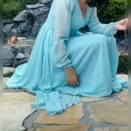 Vestido de festa azul claro M40
