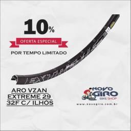 Aro Vzan Extreme Disc 29 1.9 alumínio 32f preto c/ ilhós