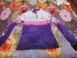 Camisa térmica de pesca Feminina tamanho P
