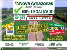 Terreno 10x30 => Ideal para morar ou investir, com entrada facilitada! <= Iranduba