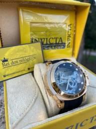Relógio invicta transparente automático