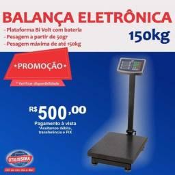Balança Digital 150kg Plataforma Piso Reforçada