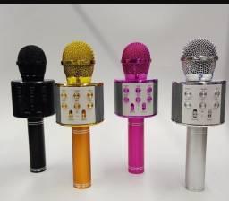 Microfone karaokê Bluetooth sem fio