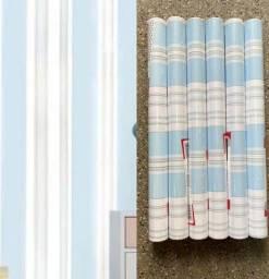 Título do anúncio: Super promoção de papel adesivo parede azul e branco listrado