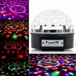 Globo Bola Maluca Led Magic Cristal Rgb Bluetooth Usb