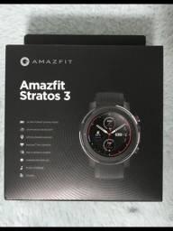 """Smartwatch Amazfit Sport Stratos 3 1.34"""" caixa 48.6mm de aço inoxidável"""