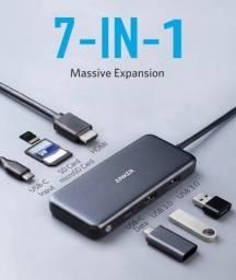 Hub USB Anker adaptador Macbook HDMI, SD card