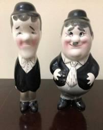 O gordo e o magro em porcelana