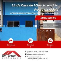 LJ@ - PROMOÇÃO Casa de 1 Quarto em São Pedro da Aldeia