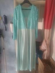 Vestido de Festa Tamanho XG Verde