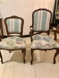 Cadeiras de jantar Luís XVI