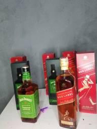Whisky Jack Daniels maçã Verde e Red Label