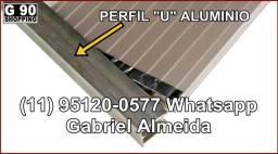 """Título do anúncio: Perfil """"U"""" Em Alumínio 6mm - Barra de 6 Metros"""