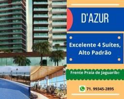 Imperdível,  Residencial D'azur, 4 suítes, 235 m², 4 vagas  , frente mar  Jaguaribe