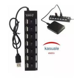Hub 7 Portas USB Hi-speed 500gb R$35,00