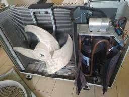 Condensadora ar condisionado split LG 12.000 btus *serpentina avariada*