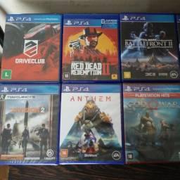 Jogos de PS4 Em Mídia Física Excelente Estado