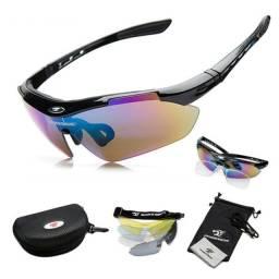 Kit Óculos Ciclismo 5 Lentes UV400/Polarizado