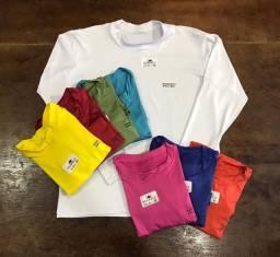 Camisas com proteção UV de várias cores