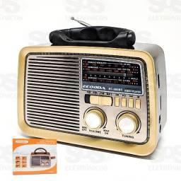 Rádio Retrô 3 Bandas 5W Ecooda EC-060BT- Rf Informatica