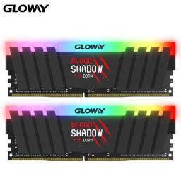 Memória Gloway, Blood Shadow, DDR4 16GB (2x8GB), 3000MHz, RGB, NOVA, Lacrada