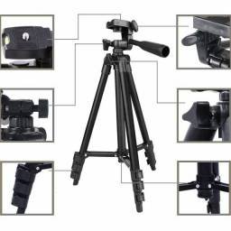 Tripé Profissional para Câmera Celular e Ring Light 1,07M Ajustável Tripod 3110