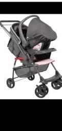 Carrinho de Bebê 1065 Galzerano Sorano - Rosa + Bebê Conforto Piccolina 0 a 13 Kg Rosa