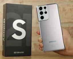 SAMSUNG S21 ULTRA  256GB  12GB RAM  5G  PRATA NOVO (LACRADO)
