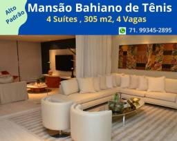 Imperdível,  : Mansão Bahiano de Tênis, 4 suítes, 4 vagas, Andar Alto